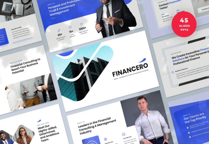 Financero – Investment & Finance PowerPoint Presentation Template