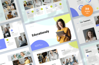 Educationaly – Online Education Google Slides Presentation Template