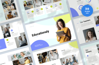 Educationaly – Online Education Keynote Presentation Template