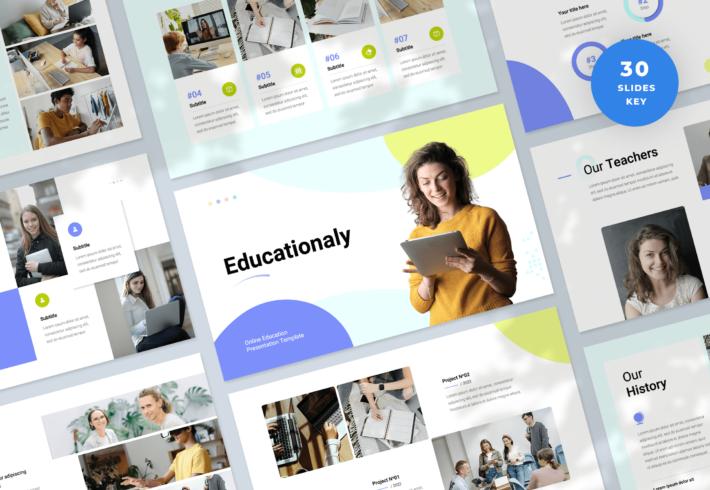 Educationaly – Online Education Keynote Presentation Template