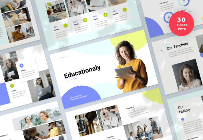 Educationaly – Online Education PowerPoint Presentation Template