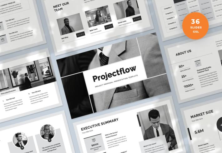 Projectflow – Project Proposal Google Slides Presentation Template
