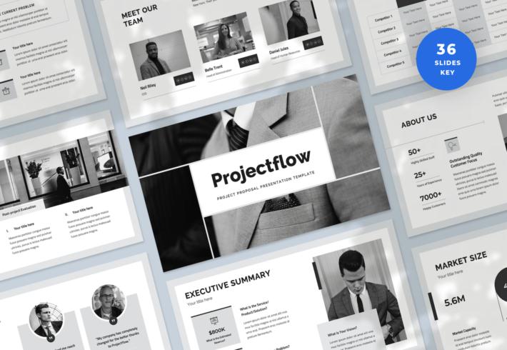 Projectflow – Project Proposal Keynote Presentation Template
