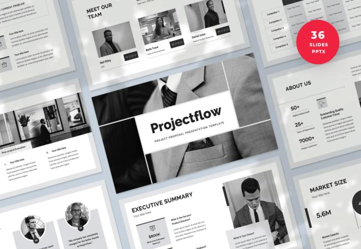 Projectflow – Project Proposal PowerPoint Presentation Template
