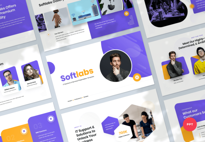 Softlabs – IT Solutions & Services PowerPoint Presentation Template