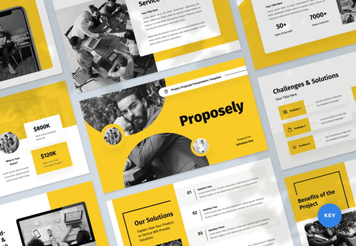 Proposely – Project Proposal Keynote Presentation Template