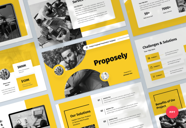 Proposely – Project Proposal PowerPoint Presentation Template