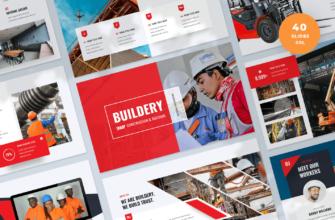 Buildery – Construction & Building Google Slides Presentation Template