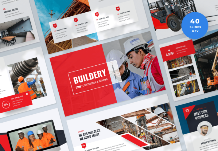 Buildery – Construction & Building Keynote Presentation Template