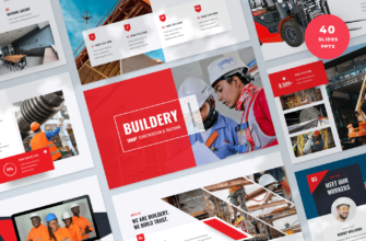 Buildery – Construction & Building PowerPoint Presentation Template
