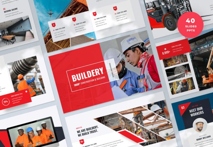 Buildery – Construction & Building PowerPoint Presentation Template