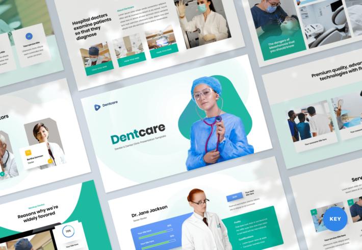 Dentcare – Dentist & Dental Clinic Keynote Presentation Template