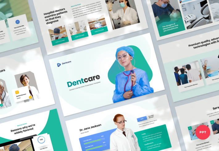 Dentcare – Dentist & Dental Clinic PowerPoint Presentation Template