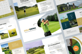 Golferina – Golf Club Google Slides Presentation Template