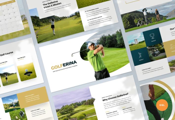 Golferina – Golf Club Google Slides Presentation Template