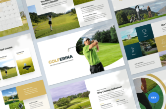 Golferina – Golf Club Keynote Presentation Template