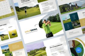 Golferina – Golf Club Keynote Presentation Template
