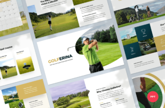 Golferina – Golf Club PowerPoint Presentation Template