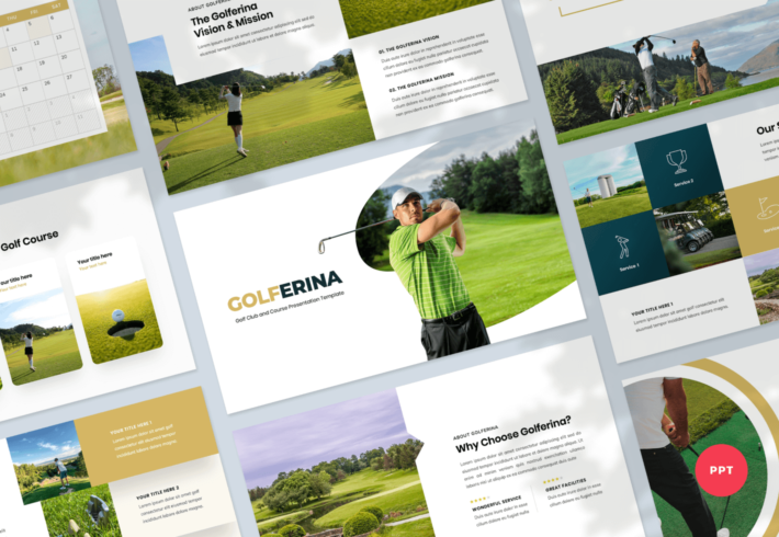 Golferina – Golf Club PowerPoint Presentation Template