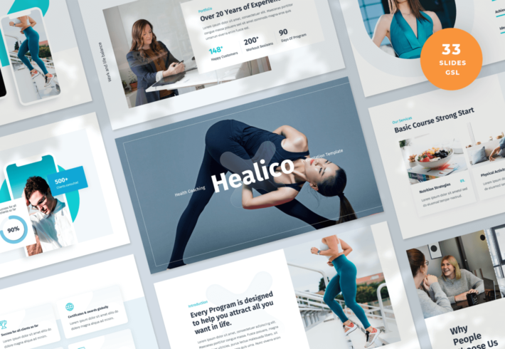 Healico – Health Coaching Google Slides Presentation Template