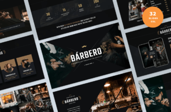 Barbero – Barber Shop Google Slides Presentation Template