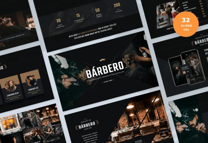 Barbero – Barber Shop Google Slides Presentation Template