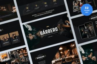 Barbero – Barber Shop Keynote Presentation Template