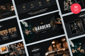 Barbero – Barber Shop PowerPoint Presentation Template