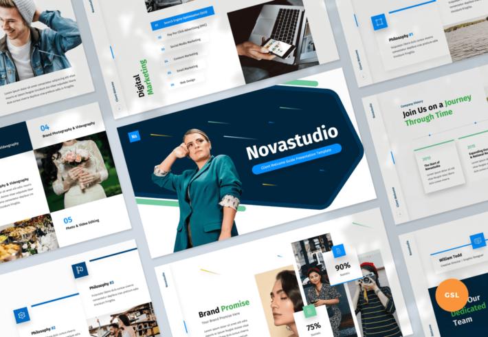 Novastudio – Client Welcome Guide Google Slides Presentation Template
