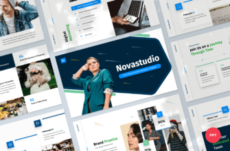 Novastudio – Client Welcome Guide PowerPoint Presentation Template
