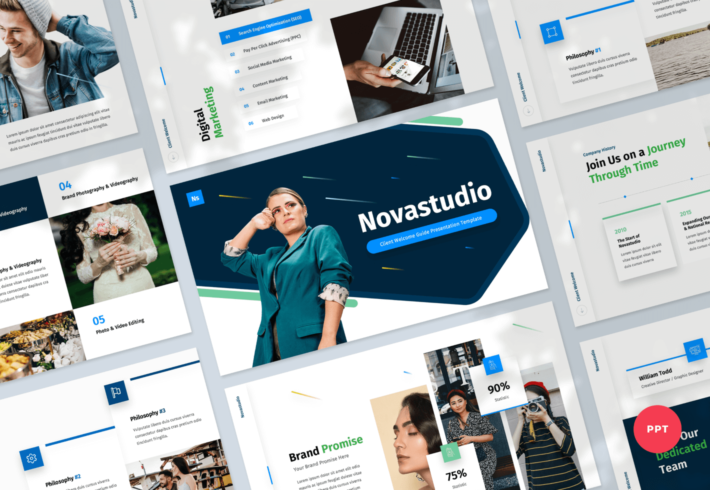 Novastudio – Client Welcome Guide PowerPoint Presentation Template