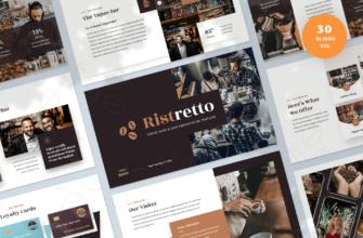 Ristretto – Coffee Shop & Cafe Google Slides Presentation Template