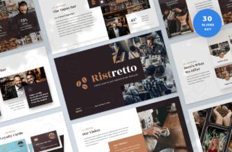 Ristretto – Coffee Shop & Cafe Keynote Presentation Template