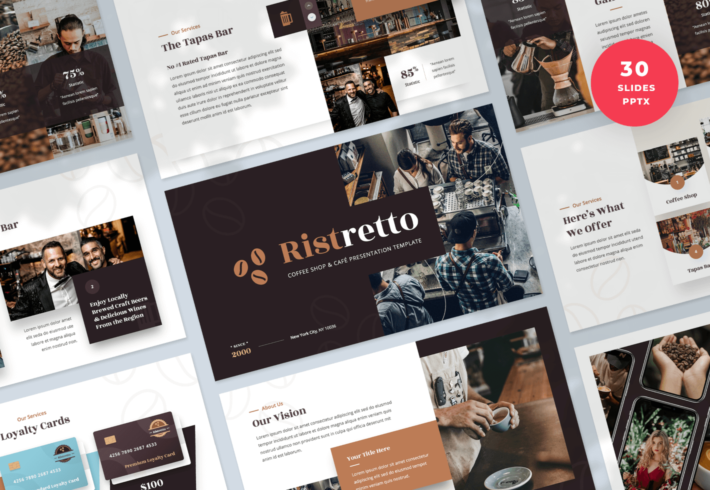 Ristretto – Coffee Shop & Cafe PowerPoint Presentation Template