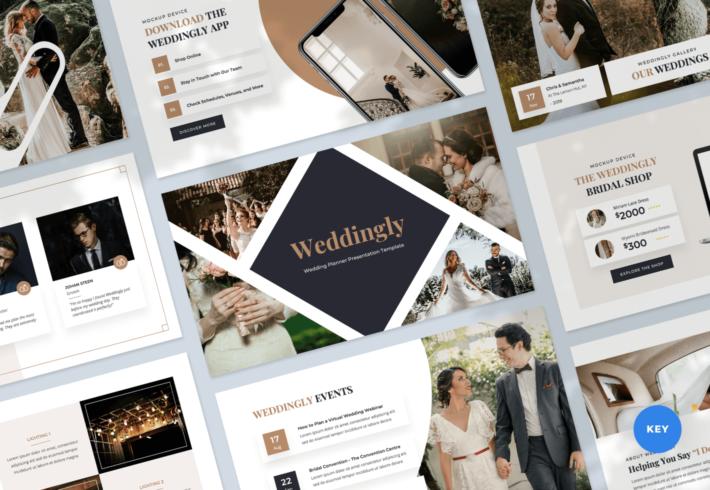 Weddingly – Wedding Planner Keynote Presentation Template