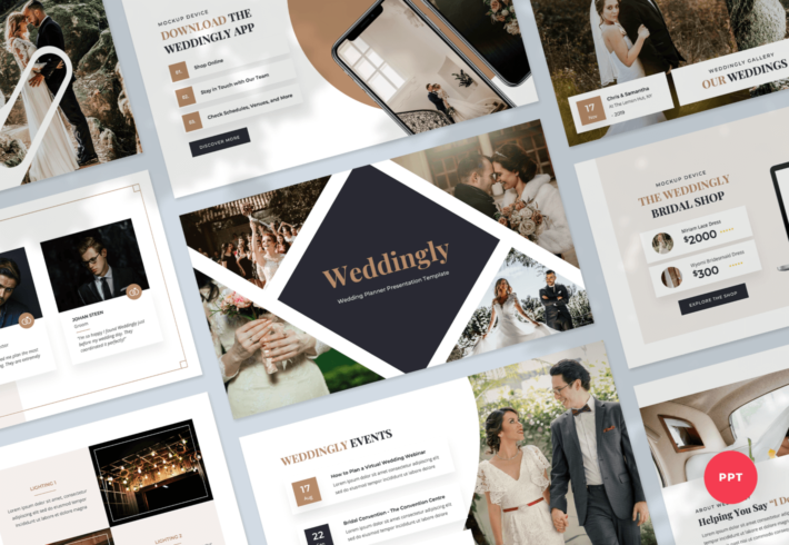 Weddingly – Wedding Planner PowerPoint Presentation Template