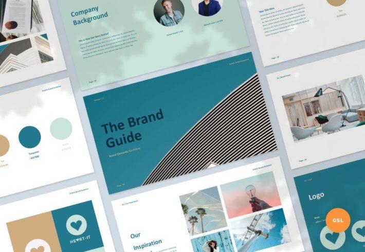 The Brand Guide – Branding Guideline Google Slides Presentation Template
