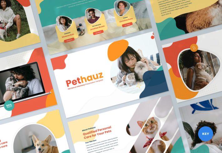 Pethauz – Pet Care Keynote Presentation Template