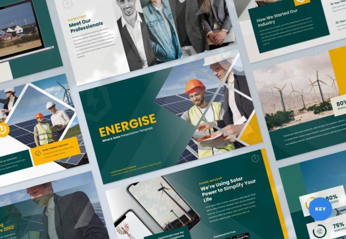 Energise – Wind and Solar Energy Keynote Presentation Template