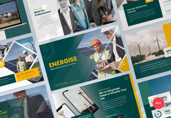 Energise – Wind and Solar Energy PowerPoint Presentation Template