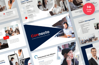 Connecto – Call Center and Customer Services PowerPoint Presentation Template