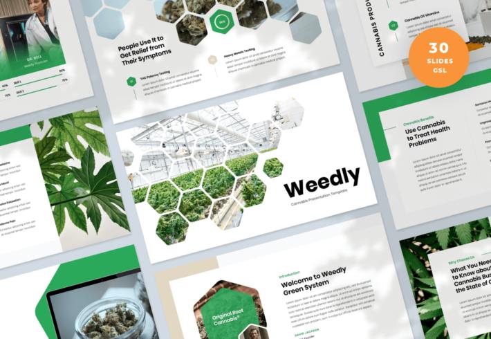 Weedly – Cannabis Google Slides Presentation Template