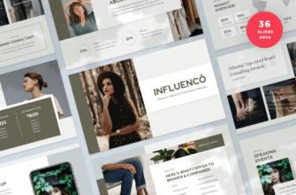 Influenco – Influencer Media Kit PowerPoint Presentation Template
