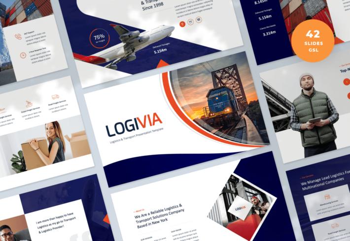 Logivia – Logistics and Transport Google Slides Presentation Template