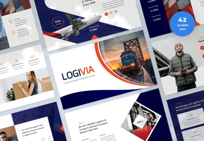 Logivia – Logistics and Transport Keynote Presentation Template