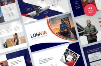 Logivia – Logistics and Transport PowerPoint Presentation Template