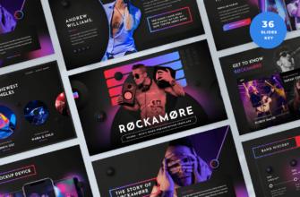 Rockamore – Music Band Keynote Presentation Template
