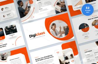 Digiclass – Online Learning Course Keynote Presentation Template