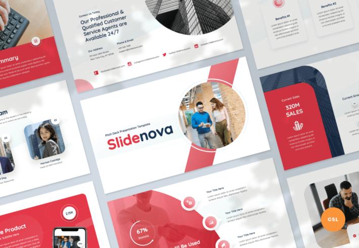 Slidenova – Pitch Deck Google Slides Presentation Template