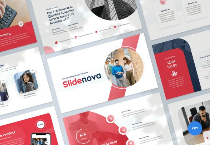 Slidenova – Pitch Deck Keynote Presentation Template